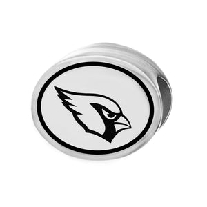 NFL Team Silver Bead Charm - Arizona Cardinals