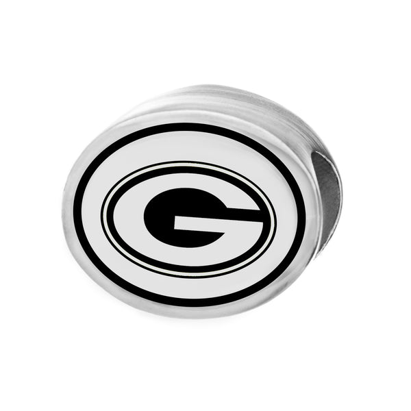 NFL Team Silver Bead Charm - Green Bay Packers