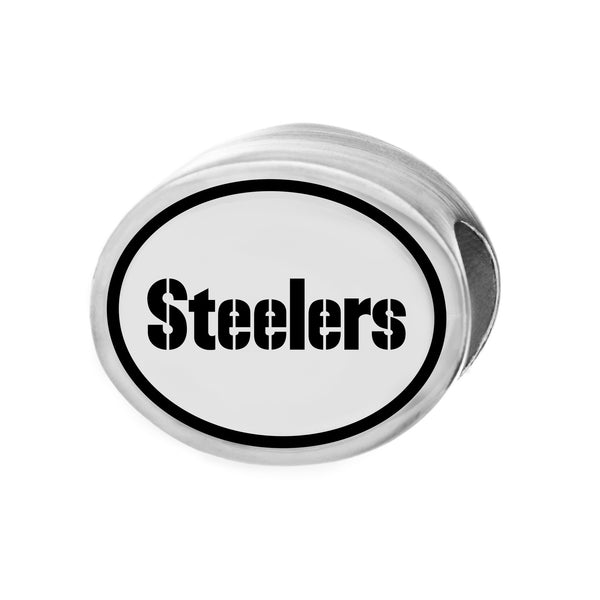 NFL Team Silver Bead Charm - Pittsburgh Steelers