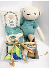 Baby Gift Basket - Green Bear - Make Me Yours Toy Studio