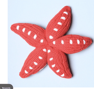 Red Starfish Rattle - Make Me Yours Toy Studio