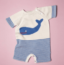 Short Sleeve Whale Romper - Make Me Yours Toy Studio