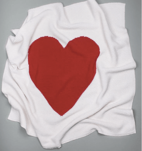 Organic Cotton Baby Blanket - Red Heart - Make Me Yours Toy Studio