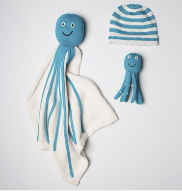 Organic Octopus Baby Gift Set - Make Me Yours Toy Studio