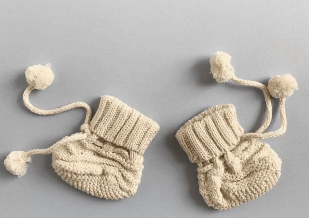 Organic Hand-Knit Bootie - Make Me Yours Toy Studio
