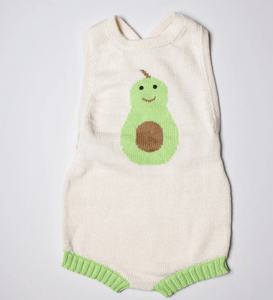 Organic Avocado Sleeveless Baby Romper - Make Me Yours Toy Studio
