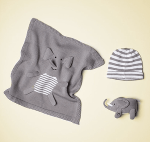 Organic Cotton Elephant Gift Set - Make Me Yours Toy Studio