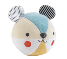 Organic Chime Ball - Blue Bear - Make Me Yours Toy Studio