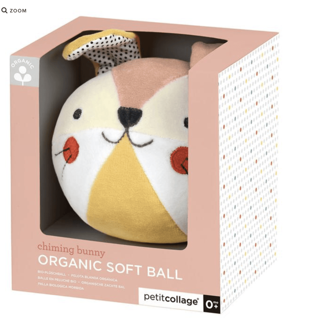 Organic Chime Ball - Bunny Pink - Make Me Yours Toy Studio