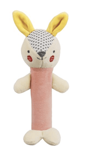 Organic Soft Rattle - Bunny Pink - Make Me Yours Toy Studio