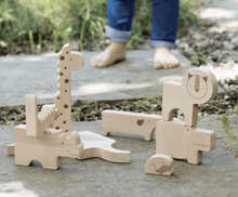 Safari Wood Puzzle & Play Set - Make Me Yours Toy Studio