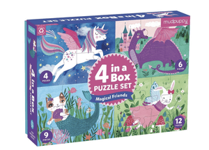 4 in a Box Puzzle - Magical Friends - Make Me Yours Toy Studio