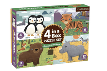 4-in-A-Box Puzzle Set - Animals - Make Me Yours Toy Studio