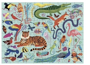 Animal Kingdom Double-Sided Puzzle - Make Me Yours Toy Studio
