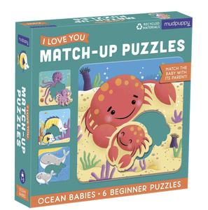 Ocean Babies I Love You Match-Up Puzzle - Make Me Yours Toy Studio