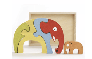 Elephant Family Puzzle - Make Me Yours Toy Studio