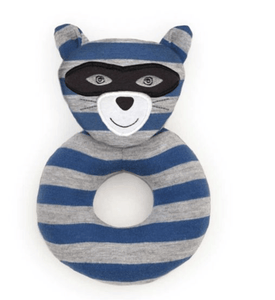 Robbie Raccoon Rattle - Make Me Yours Toy Studio