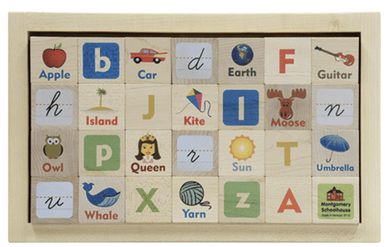 Wooden ABC Blocks - Make Me Yours Toy Studio
