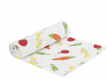 Organic Muslin Fruit & Veggie Swaddle - Make Me Yours Toy Studio