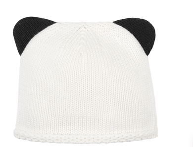 Panda Ear Knitted Hat - Make Me Yours Toy Studio