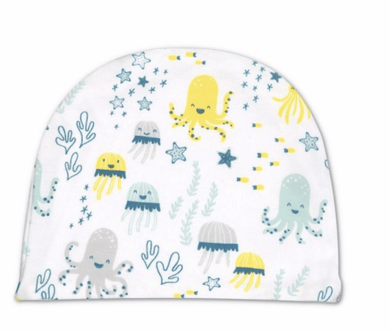 Sea Life Print Cotton Hat - Make Me Yours Toy Studio