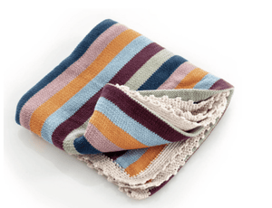 Organic Cotton Knit Multi-Colored Blanket - Make Me Yours Toy Studio