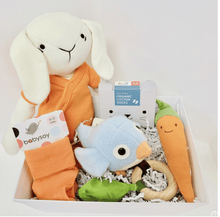 Orange Bunny Gift Basket - Make Me Yours Toy Studio