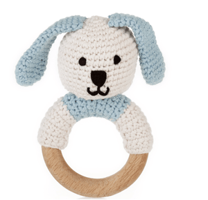 Bunny Rattle Teether - Make Me Yours Toy Studio