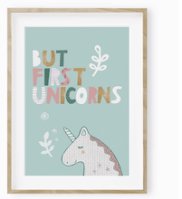 But First Unicorns! Poster - Make Me Yours Toy Studio