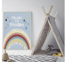 Follow the Rainbow Nursery Print - Make Me Yours Toy Studio