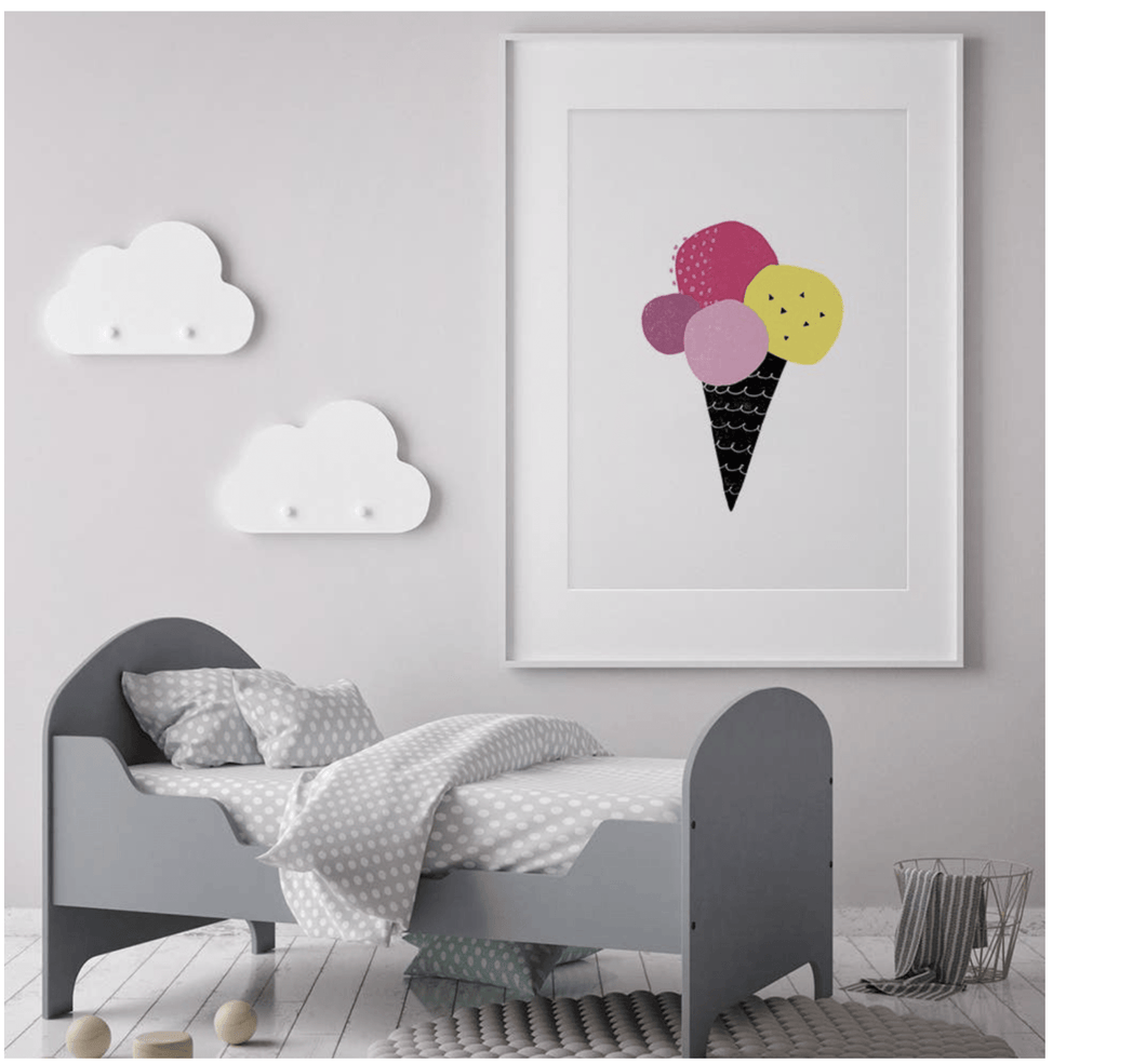 Ice Cream Neon Nursery Print - Make Me Yours Toy Studio