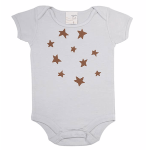 Organic Infant Bodysuit - Stars Print - Make Me Yours Toy Studio