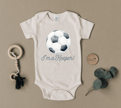 Keeper - Organic Onesie Soccer - Make Me Yours Toy Studio