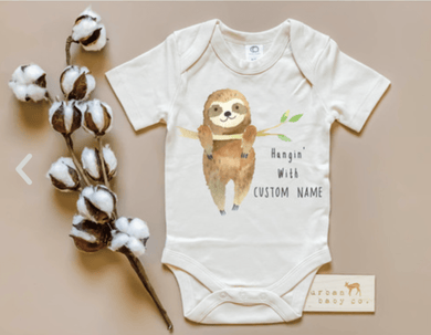 Sloth Organic Bodysuit Short Sleeve - Make Me Yours Toy Studio