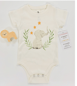 Organic Elephant Onesie - Make Me Yours Toy Studio