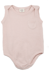 Knit Cotton Sleeveless Bodysuit - Blush - Make Me Yours Toy Studio