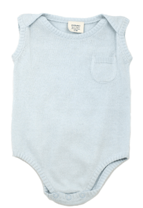 Organic Knit Sleeveless Bodysuit - Sky Blue - Make Me Yours Toy Studio