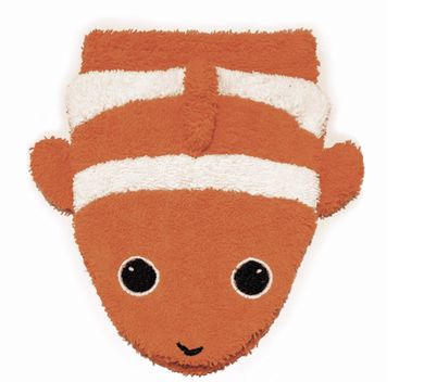 Organic Washcloth Clownfish Puppet - Make Me Yours Toy Studio