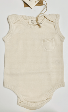 Organic Knit Sleeveless Bodysuit - Cream - Make Me Yours Toy Studio
