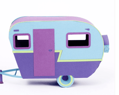 Vintage Camper Paper Craft Kit - Make Me Yours Toy Studio