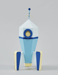 Retro Rocket Craft Kit - Make Me Yours Toy Studio