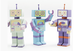 Moveable Robot Paper Craft Kit - Make Me Yours Toy Studio