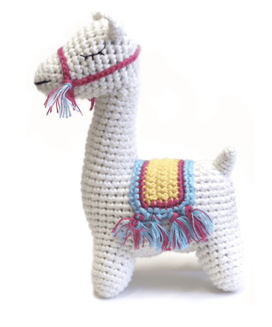 Hand Crocheted Organic Llama Rattle - Make Me Yours Toy Studio