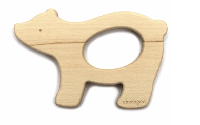 Bear Wooden Teething Ring - Make Me Yours Toy Studio