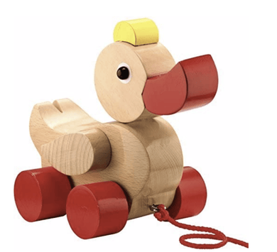 Quack & Pull Wooden Ducky - Make Me Yours Toy Studio