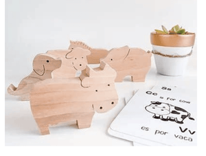 Spanish Bilingual Farm Set - Make Me Yours Toy Studio