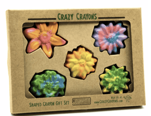 Multi-colored Flower Crayon Set - Make Me Yours Toy Studio