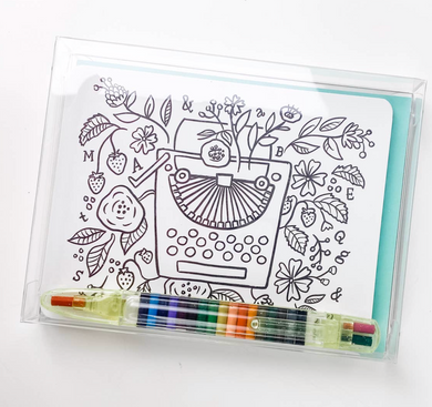 Color-in-Postcard Kit