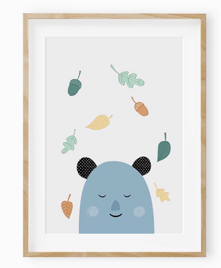 Sleepy Bear Wall Art