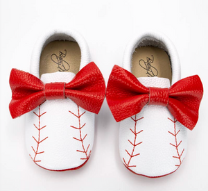 Baseball Shoes with Bows